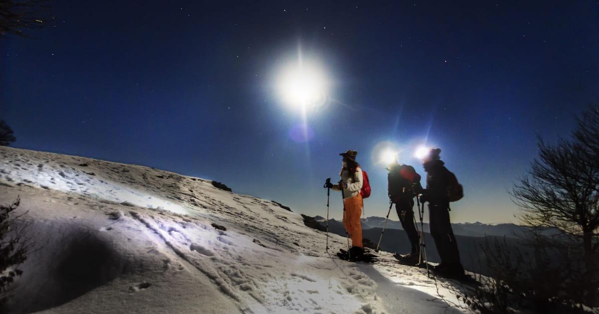 ciaspolate neve notturne lazio monti simbruini recovery energy Recovery Energy | Experience Emotions Canyoning Lazio, Abruzzo, Umbria. Escursionismo e Survival A gennaio Ciaspolate sulla neve, Canyoning alla Forra dei Corbezzzoli e Missioning