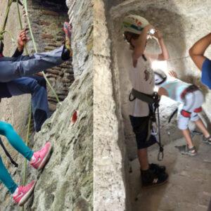 assalto al castello laboratori didattici scuole recovery energy Recovery Energy | Experience Emotions Canyoning Lazio, Abruzzo, Umbria. Escursionismo e Survival Laboratori Didattici