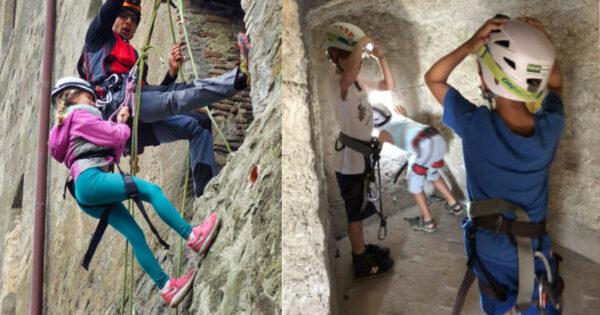 assalto al castello laboratori didattici scuole recovery energy Recovery Energy | Experience Emotions Canyoning Lazio, Abruzzo, Umbria. Escursionismo e Survival Assalto al Castello