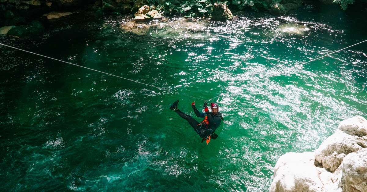 canyoning lazio aniene laghetto san benedetto subiaco recovery energy Recovery Energy | Experience Emotions Canyoning Lazio, Abruzzo, Umbria. Escursionismo e Survival Canyoning Torrentismo