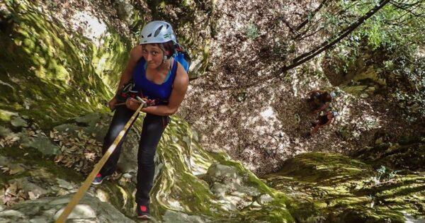 canyoning trekking dispersi valloppio recovery energy Recovery Energy | Experience Emotions Canyoning Lazio, Abruzzo, Umbria. Escursionismo e Survival Dispersi a Valloppio (Survival + Canyoning)