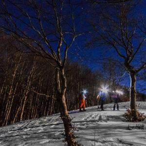 ciaspolata notturna tramonto monte autore simbruini lazio recovery energy Recovery Energy | Experience Emotions Canyoning Lazio, Abruzzo, Umbria. Escursionismo e Survival La Valle dell'Aniene e i Monti Simbruini