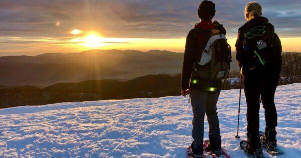 ciaspolata tramonto monte autore simbruini lazio recovery energy Recovery Energy | Experience Emotions Canyoning Lazio, Abruzzo, Umbria. Escursionismo e Survival Ciaspolata al Tramonto