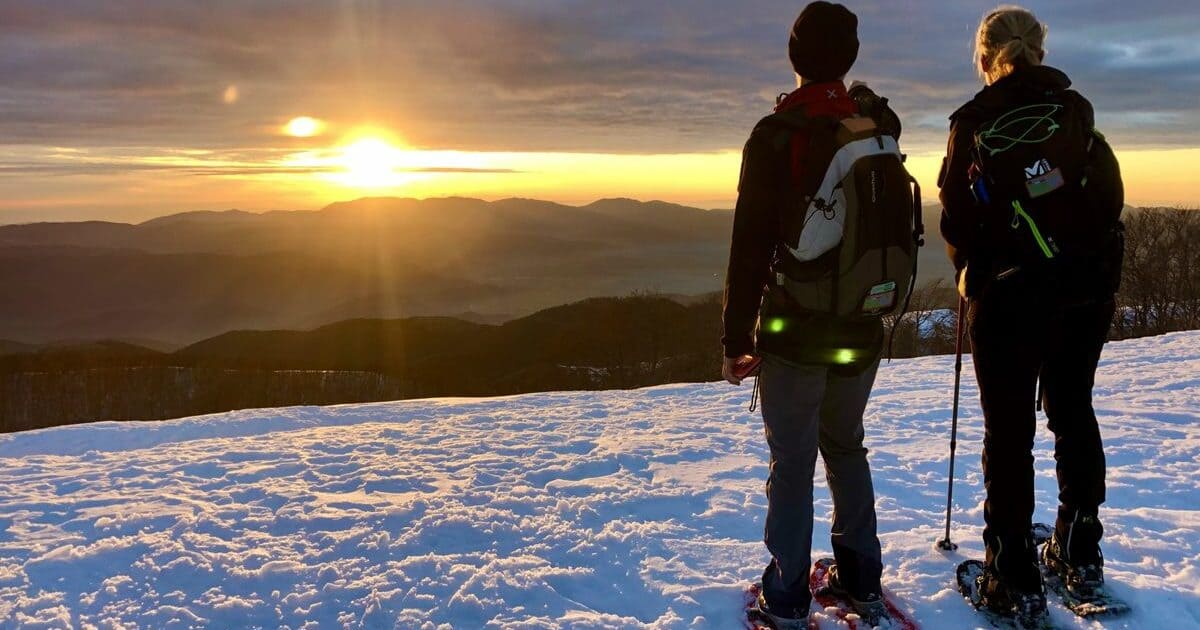 ciaspolata tramonto monte autore simbruini lazio recovery energy Recovery Energy | Experience Emotions Canyoning Lazio, Abruzzo, Umbria. Escursionismo e Survival Trekking & Ciaspolate