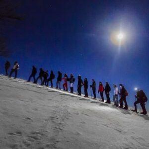 ciaspolata tramonto notturna monte autore simbruini lazio recovery energy Recovery Energy | Experience Emotions Canyoning Lazio, Abruzzo, Umbria. Escursionismo e Survival La Valle dell'Aniene e i Monti Simbruini