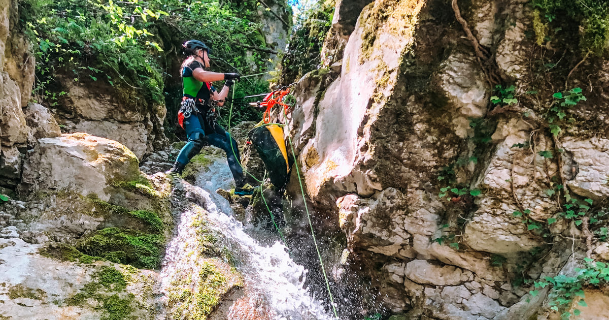 canyoning turano serendipity 2 Recovery Energy | Experience Emotions Canyoning Lazio, Abruzzo, Umbria. Escursionismo e Survival Canyoning Torrentismo