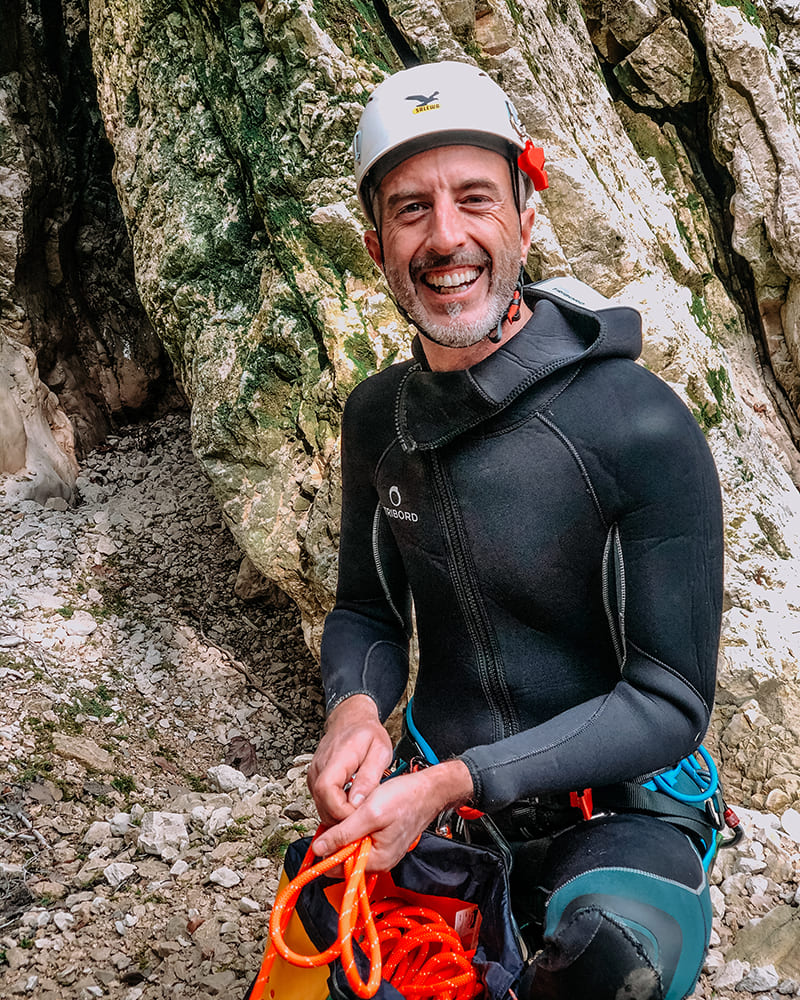 paolo operatore canyoning recovery energy Recovery Energy | Experience Emotions Canyoning Lazio, Abruzzo, Umbria. Escursionismo e Survival Chi siamo