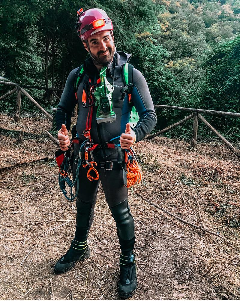 silvio operatore canyoning recovery energy Recovery Energy | Experience Emotions Canyoning Lazio, Abruzzo, Umbria. Escursionismo e Survival Chi siamo